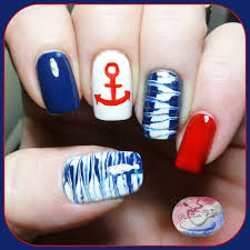 the digit al dozen does summer day two nautical nail art