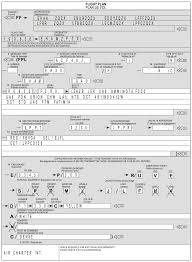 icao model flight plan form flight crew guide