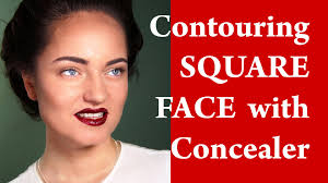 contouring and highlighting a square face how to apply makeup on