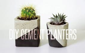 diy cement planter youtube