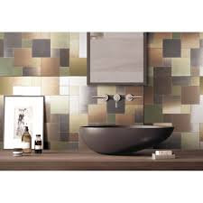 Metal Kitchen Backsplash Tiles Metal Backsplash Tiles For Kitchen Or Bath 12x12 In 1 Box 9 7 Sq Ft