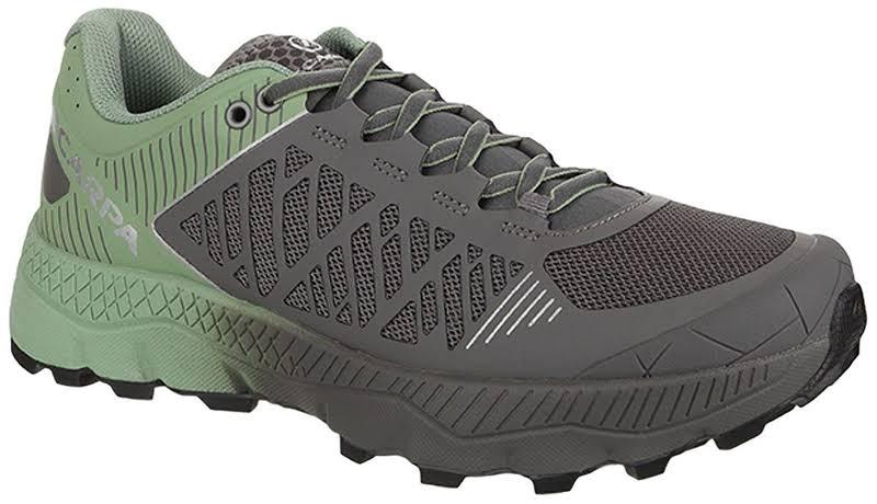 Scarpa Spin Ultra Running Shoes Shark/Mineral Green Medium 38.5 33072/352-SrkMgrn-38.5