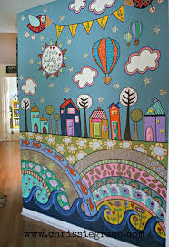 best 20 childrens wall murals ideas on pinterest kids wall funky detailed painted wall mural using acrylic craft paints
