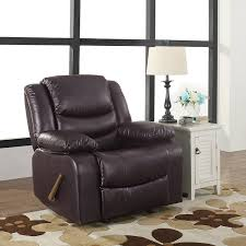 Rocking Chair Recliners Amazon Com Bonded Leather Rocker Recliner Living Room Chair