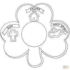 shamrock holy trinity coloring page free printable coloring pages