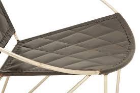 Papasan Chair In Living Room Cole U0026 Grey Metal And Leather Papasan Chair U0026 Reviews Wayfair