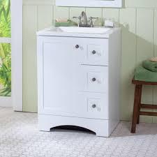 Glacier Bay Bathroom Vanity by Glacier Bay Lancaster 24 In Vanity And Vanity Top In White With