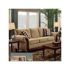 Sofa With Wood Trim by Havana Beige Chenille Sofa With Wood T Furniture And Mattress Outlet