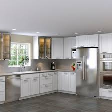 stainless steel kitchen cabinets ikea wall mount range hood yellow