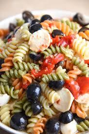 Pasta Salad Ingredients Tri Colored Pasta Salad Recipe Courtney U0027s Sweets