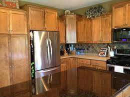 Aluminum Kitchen Backsplash Cabinets U0026 Drawer Brown Countertop White Tile Ceramic Backsplash