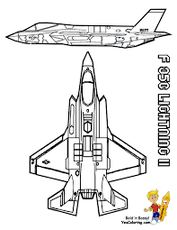 10 f35 lighting airplane at coloring pages book for kids boys gif