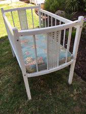 Vintage White Baby Crib by Antique Crib Ebay