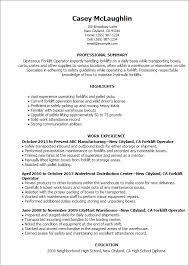 Resume For Nanny Job by Professional Forklift Operator Templates To Showcase Your Talent