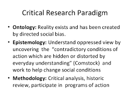 Research Paradigms Ontology     s  Epistemologies  amp  Methods Critical Research
