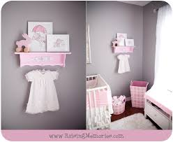 raising memories pink and gray baby nursery