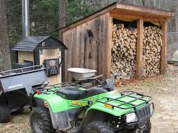 Free Firewood Shelter Plans by Progress A Sturdy Woodshed That Will Keep Wooden Shed Design Plans