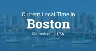 Time Zone Map United States by Current Local Time In Boston Massachusetts Usa