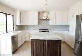 Kitchen Cabinets White Shaker Kitchen Remodel Using Lowes Cabinets Cre8tive Designs Inc