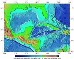 Caribbean Sea On Map by Surface Currents In The Caribbean Sea And Gulf Of Mexico