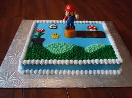 Super Mario Home Decor by Mario Cake With Buttercream Frosting Decorations And A