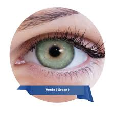 green contact lenses lunare tri kolor yearly by bausch lomb