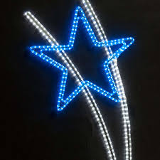 Blue Led String Lights by Shooting Star Silhouette With Led Light 1 7m