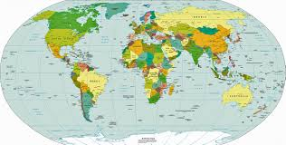 Peters Projection World Map by This Is Africa Display Adaptability