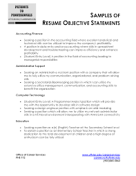 Resume Examples  Finance Resume Objective Statements  sample of     Rufoot Resumes  Esay  and Templates