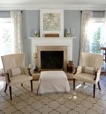 Living Room Colors With Brown Furniture Our Inviting Living Room Benjamin Moore Coventry Gray Walls Pair