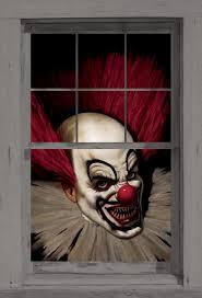 halloween wall art amazon com wowindow posters slammy the scary clown halloween