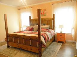 ana white slatted four post farmhouse bed king diy projects