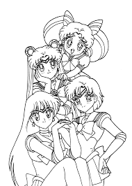 sailor moon friends coloring pages for kids printable free