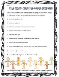 Bill Nye Digestion Worksheet Human Body Systems Riddles Students Will Look At Functions Of Each