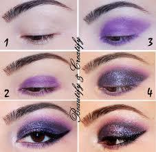 beautify and creatify plum glitter smokey eyes