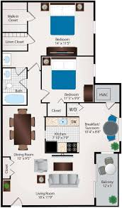 Two Bedroom Apartment Floor Plans Two Bedroom Apartments In Burtonsville Maryland