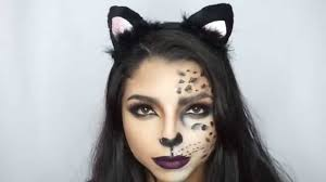 how to cheetah cat halloween makeup youtube
