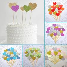 40pcs diy lighting birthday cake topper wedding halloween party