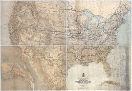 Big Map Of The United States by Large Scale Detailed Old Military Map Of The United States 1869