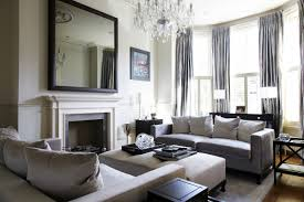 living room crystal chandelier black fireplace bedroom mirror