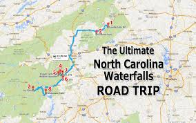 Charlotte Usa Map by Ultimate North Carolina Waterfall Road Trip Map