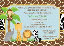Baby Shower Invitation Cards Templates Safari Theme Baby Shower Invitations Theruntime Com