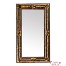 moroccan mirror with silver maillechort essence of morocco