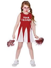 Girls Zombie Halloween Costumes Fear Leader Girls Zombie Cheerleader Fancy Dress Halloween Childs