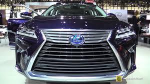 lexus es de toyota 2016 lexus rx450h hybrid exterior and interior walkaround