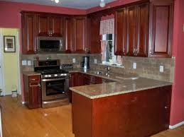 Kitchen Cabinets Mahogany Witching Brown Wooden High End Kitchen Cabinets Features Double
