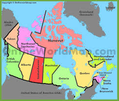 Political Map Of United States And Canada by Canada Maps Maps Of Canada