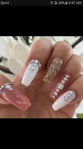 top 25 best rhinestone nails ideas on pinterest rhinestone nail
