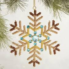 beaded snowflake ornament 7 pier 1 imports holiday 2016 decor