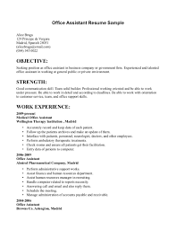 Example Objectives For Resumes by Admin Resume Administration Cv Template Free Administrative Cvs